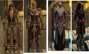 various SWTOR gear sets